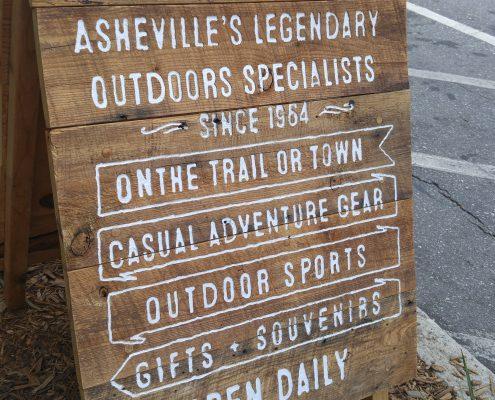 Diamond Brand Outdoors Unique Sign in Asheville, North Carolina